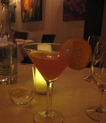 RESTAURANT L'EAU A LA BOUCHE, SAINTE-ADELE,QC - RHUM COCO, ORANGE SANGUINE, PAMPLEMOUSSE